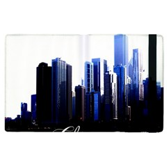 Abstract Of Downtown Chicago Effects Apple Ipad 2 Flip Case by Simbadda