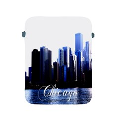Abstract Of Downtown Chicago Effects Apple Ipad 2/3/4 Protective Soft Cases by Simbadda