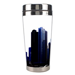 Abstract Of Downtown Chicago Effects Stainless Steel Travel Tumblers by Simbadda