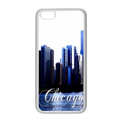 Abstract Of Downtown Chicago Effects Apple Iphone 5c Seamless Case (white) by Simbadda