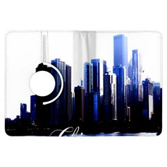 Abstract Of Downtown Chicago Effects Kindle Fire Hdx Flip 360 Case by Simbadda