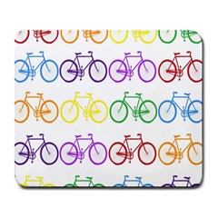 Rainbow Colors Bright Colorful Bicycles Wallpaper Background Large Mousepads by Simbadda
