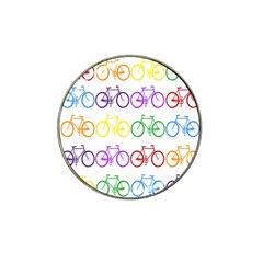 Rainbow Colors Bright Colorful Bicycles Wallpaper Background Hat Clip Ball Marker by Simbadda