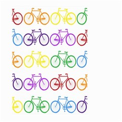 Rainbow Colors Bright Colorful Bicycles Wallpaper Background Large Garden Flag (two Sides) by Simbadda