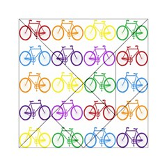 Rainbow Colors Bright Colorful Bicycles Wallpaper Background Acrylic Tangram Puzzle (6  X 6 ) by Simbadda