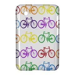 Rainbow Colors Bright Colorful Bicycles Wallpaper Background Samsung Galaxy Tab 2 (7 ) P3100 Hardshell Case  by Simbadda