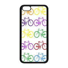 Rainbow Colors Bright Colorful Bicycles Wallpaper Background Apple Iphone 5c Seamless Case (black) by Simbadda