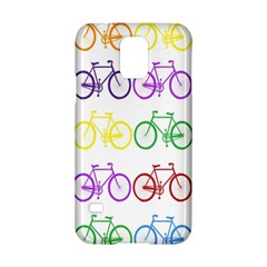 Rainbow Colors Bright Colorful Bicycles Wallpaper Background Samsung Galaxy S5 Hardshell Case  by Simbadda
