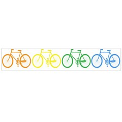 Rainbow Colors Bright Colorful Bicycles Wallpaper Background Flano Scarf (Large) by Simbadda