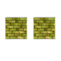 Modern Green Bricks Background Image Cufflinks (square) by Simbadda