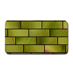 Modern Green Bricks Background Image Medium Bar Mats by Simbadda