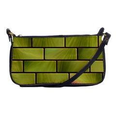 Modern Green Bricks Background Image Shoulder Clutch Bags by Simbadda