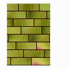 Modern Green Bricks Background Image Large Garden Flag (two Sides) by Simbadda