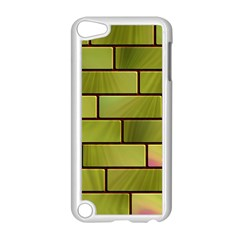 Modern Green Bricks Background Image Apple Ipod Touch 5 Case (white) by Simbadda