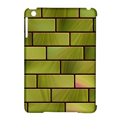 Modern Green Bricks Background Image Apple Ipad Mini Hardshell Case (compatible With Smart Cover) by Simbadda