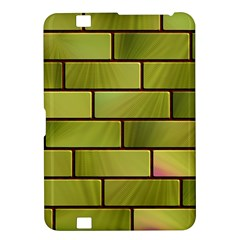 Modern Green Bricks Background Image Kindle Fire Hd 8 9  by Simbadda