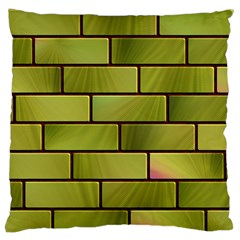 Modern Green Bricks Background Image Standard Flano Cushion Case (one Side) by Simbadda