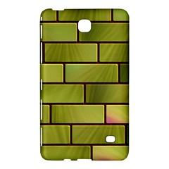 Modern Green Bricks Background Image Samsung Galaxy Tab 4 (8 ) Hardshell Case  by Simbadda