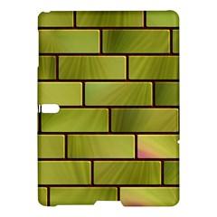 Modern Green Bricks Background Image Samsung Galaxy Tab S (10 5 ) Hardshell Case  by Simbadda