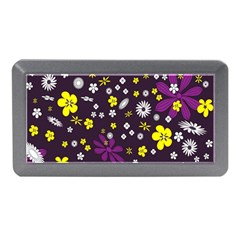 Flowers Floral Background Colorful Vintage Retro Busy Wallpaper Memory Card Reader (mini) by Simbadda