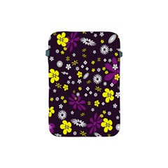 Flowers Floral Background Colorful Vintage Retro Busy Wallpaper Apple Ipad Mini Protective Soft Cases by Simbadda