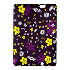 Flowers Floral Background Colorful Vintage Retro Busy Wallpaper Kindle Fire Hdx 8 9  Hardshell Case by Simbadda
