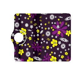 Flowers Floral Background Colorful Vintage Retro Busy Wallpaper Kindle Fire Hdx 8 9  Flip 360 Case by Simbadda