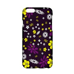 Flowers Floral Background Colorful Vintage Retro Busy Wallpaper Apple Iphone 6/6s Hardshell Case by Simbadda