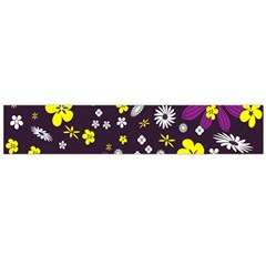 Flowers Floral Background Colorful Vintage Retro Busy Wallpaper Flano Scarf (large) by Simbadda