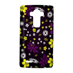 Flowers Floral Background Colorful Vintage Retro Busy Wallpaper Lg G4 Hardshell Case by Simbadda