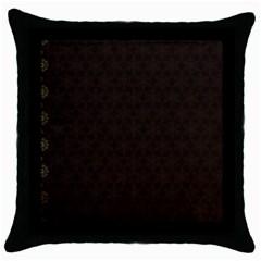 Vintage Paper Kraft Pattern Throw Pillow Case (black) by Simbadda