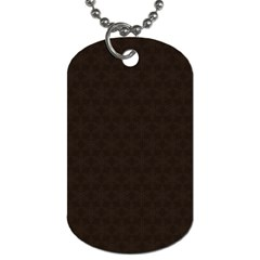 Vintage Paper Kraft Pattern Dog Tag (One Side) by Simbadda