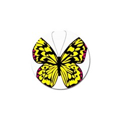 Yellow A Colorful Butterfly Image Golf Ball Marker (10 Pack) by Simbadda