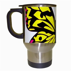 Yellow A Colorful Butterfly Image Travel Mugs (white) by Simbadda