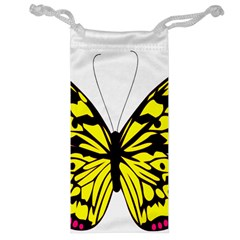 Yellow A Colorful Butterfly Image Jewelry Bag