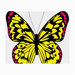 Yellow A Colorful Butterfly Image Small Glasses Cloth (2 Side) by Simbadda