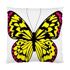 Yellow A Colorful Butterfly Image Standard Cushion Case (one Side) by Simbadda