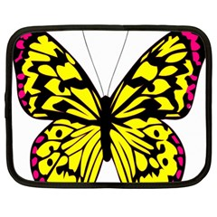 Yellow A Colorful Butterfly Image Netbook Case (xl)  by Simbadda