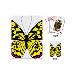 Yellow A Colorful Butterfly Image Playing Cards (mini)  by Simbadda