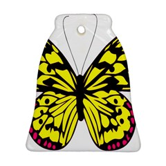 Yellow A Colorful Butterfly Image Ornament (bell) by Simbadda
