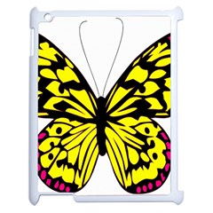 Yellow A Colorful Butterfly Image Apple Ipad 2 Case (white) by Simbadda