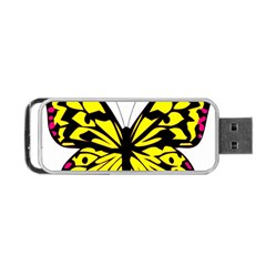 Yellow A Colorful Butterfly Image Portable Usb Flash (two Sides) by Simbadda