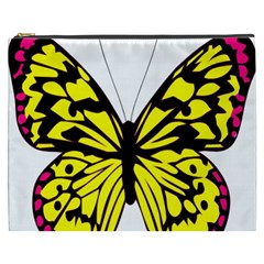 Yellow A Colorful Butterfly Image Cosmetic Bag (xxxl)  by Simbadda