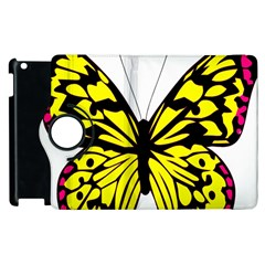Yellow A Colorful Butterfly Image Apple Ipad 2 Flip 360 Case by Simbadda
