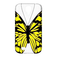Yellow A Colorful Butterfly Image Samsung Galaxy S4 Classic Hardshell Case (pc+silicone) by Simbadda