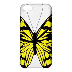 Yellow A Colorful Butterfly Image Apple Iphone 5c Hardshell Case by Simbadda