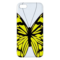 Yellow A Colorful Butterfly Image Iphone 5s/ Se Premium Hardshell Case by Simbadda