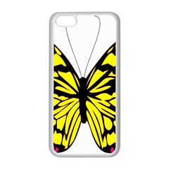 Yellow A Colorful Butterfly Image Apple Iphone 5c Seamless Case (white) by Simbadda