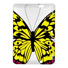 Yellow A Colorful Butterfly Image Kindle Fire Hdx 8 9  Hardshell Case by Simbadda