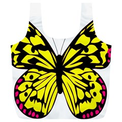 Yellow A Colorful Butterfly Image Full Print Recycle Bags (l)  by Simbadda